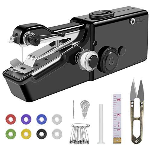 Máquina de Coser portatil Mini Máquina de Coser Eléctrica de Mano para principiantes kit de máquina de coser para Ropa Artesanía Casa Viajes Reparando
