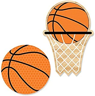 Big Dot of Happiness Nothin' but Net - Basketball DIY Shaped Party Cut-Outs - 24 Count