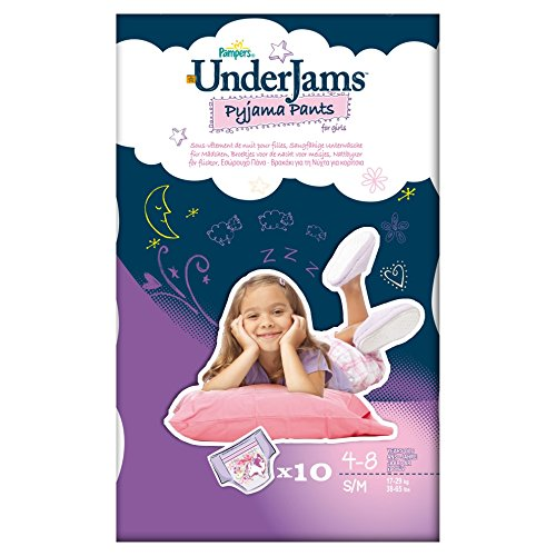 Pampers Windeln UnderJams G2 S7 S/M Girl 17-29kg, 4x10 Stück