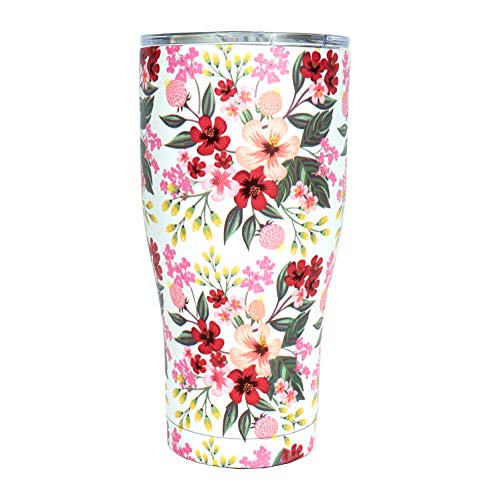 30oz tumbler, stainless steel tumbler, floral tumbler, vacuum tumbler, tumbler with lid 30oz tumblers, insulated tumbler, insulated stainless steel tumbler
