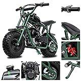 Fit Right 2020 DB003 40CC 4-Stroke Kids Dirt Off Road Mini Dirt Bike, Kid Gas Powered Dirt Bike Off Road Dirt Bikes, Gas Powered Trail Mini Bike - Ultra Edition (Green Camo)