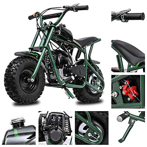 Fit Right 2020 DB003 40CC 4-Stroke Kids Dirt Off Road Mini Dirt Bike, Kid Gas Powered Dirt Bike Off Road Dirt Bikes, Gas Powered Trail Mini Bike - Ultra Edition (Green Camo)