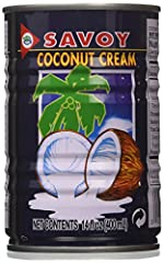 Savoy Coconut Cream - 6 cans Perfect for used in Asian cooking Can be used to replace heavy cream Product of Thailand