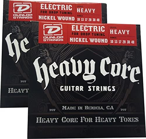 Dunlop Heavy Core Heavy Electric Guitar Strings 10 48 2 Pack product image