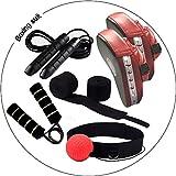 Kuty Saco de Boxeo, Boxeo, Sets de Boxeo, Pao Boxe, Vendas de Boxeo, Fortalecedores de Mano, Boxing Ball, Thai Kick Boxing Artes Marciales, Boxing Taekwondo Karate Judo para Eliminar Grasa