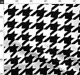 Hahnentritt, Karo, Schwarz Und Weiß, Geometrisches Muster,