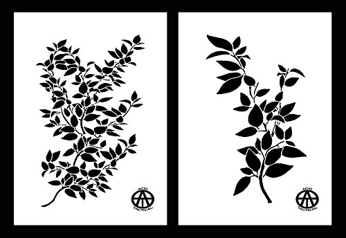 Acid Tactical® 2 unidades – 23 cm x 35 cm Mylar Camo Leaf Plantillas Camuflaje Jon Barco pintura Highbush rama