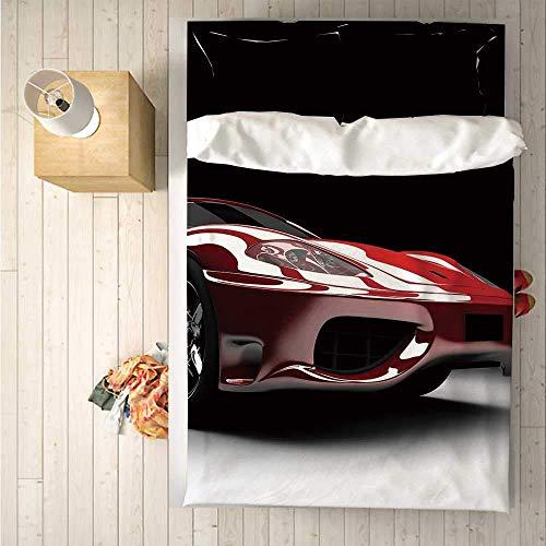 Luancrop Cars Praktisches 3-teiliges Bettwäscheset , Bettwäscheset, Thema Automobilindustrie Leistungsstarker Motor Schnelle Technologie Prestige-Leistung Dekorativ für den Innenbereich