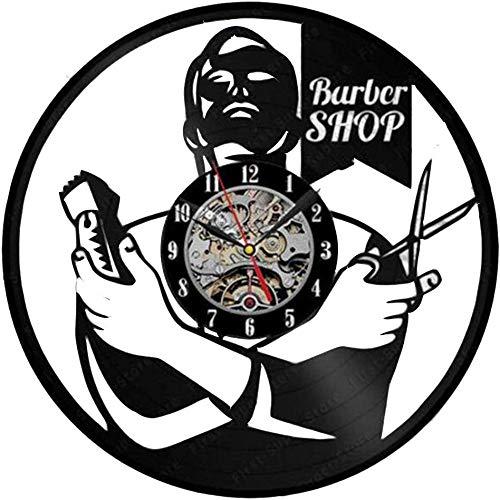 YJTGZ Barber Tool Bag Belt Vinyl Watch Sèche-Cheveux Ciseaux Peigne Coiffeur Noir Décoratif Cadeau pour Salon De Coiffure Boutique