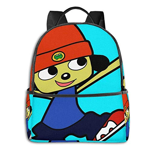 IUBBKI Mochila lateral negra Mochilas informales Parappa The Rapper Yeah! Student School Bag School Cycling Leisure Travel Camping Outdoor Backpack