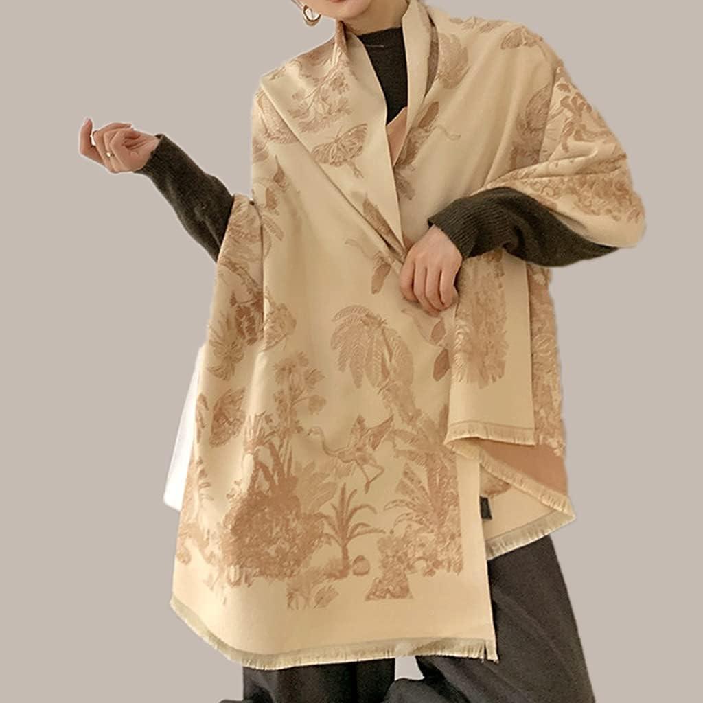 Japan Rapid rise Maker New GYZCZX Women Floral Print Scarf Cashmere Winter Pashmina Warmer