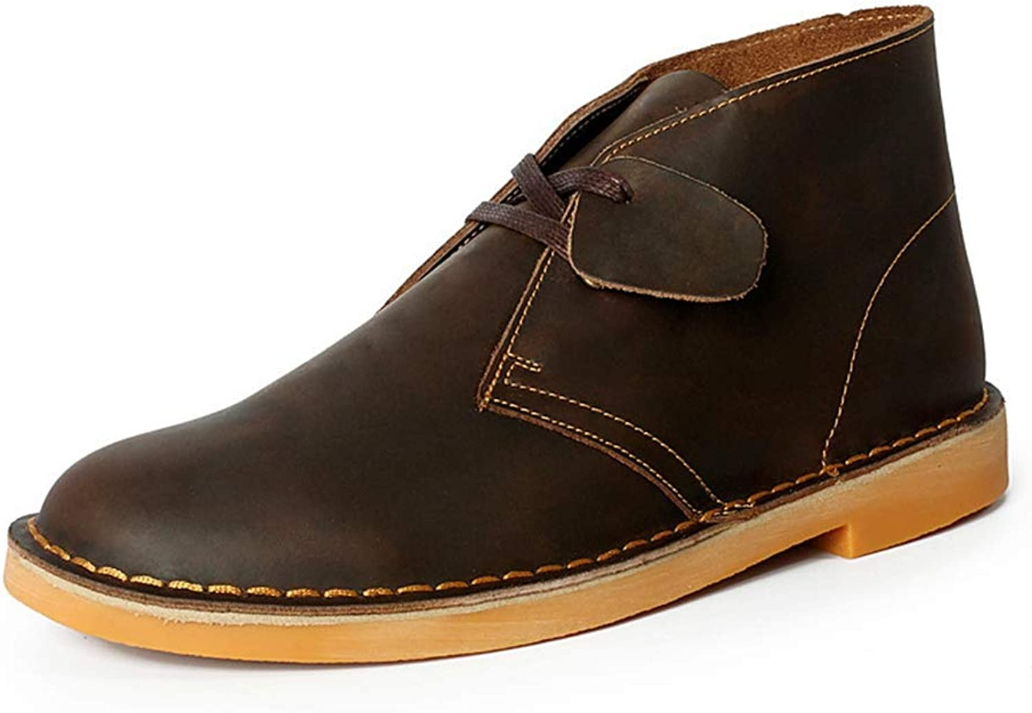 Phil Betty Mens Boots Round Toe Lace Up Breathable Casual Martin Boots