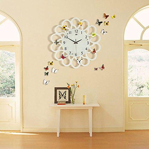 DFFV-Horloge murale jardin simple mute l'horloge de mur salon créatif moderne art déco murale horloge de quartz (sans batterie)Cadeau de cadeau de Noël de vacances d'ami cadeau