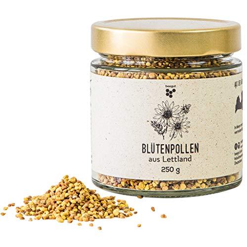 Natürliche Blütenpollen von beegut, 250g mild süße Bienenpollen, 100% rein & natürlich