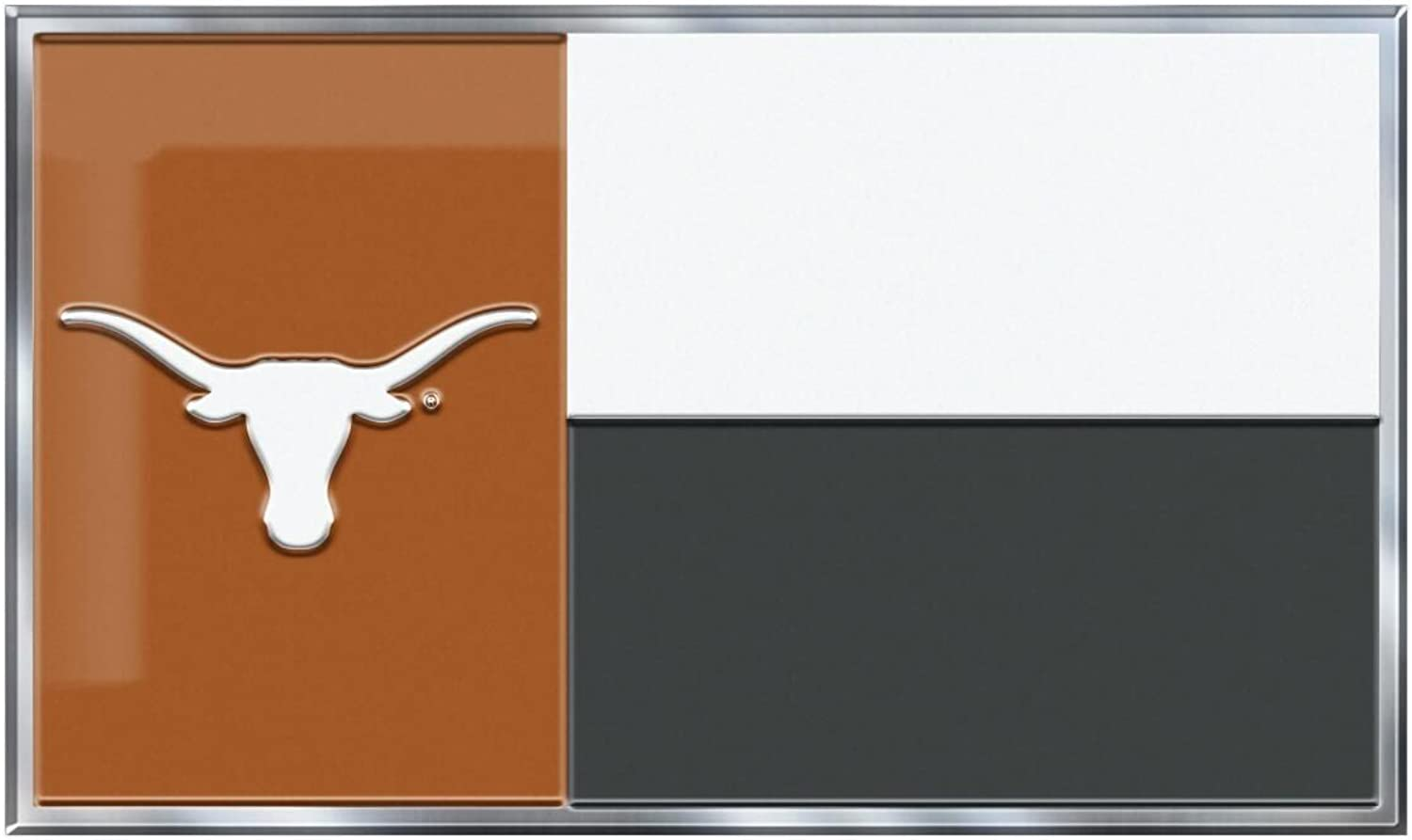 Texas Longhorns Coloured Aluminium Flag Car Auto Emblem