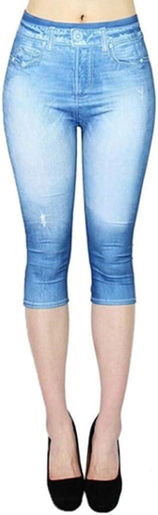 Fankle Women's Ripped Boyfriend Jeans Cute Butterfly Print Distressed Jeans Stretch Skinny Jeans