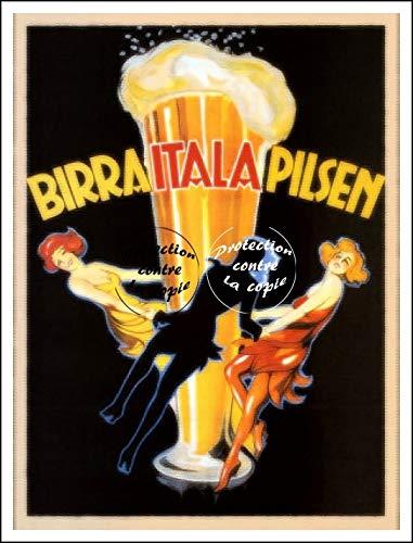 Herbé TM Publicité Birra Italia Pilsen Rf161-Poster/Riproduzione 40 x 60 cm* d1 Poster Antico / Retro