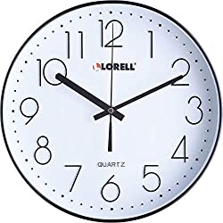Lorell Clock, 11-5/8, Black