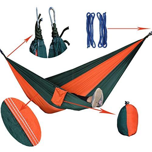 Hemotrade hangmat outdoor hangmat parachute doek hangmat hangmat hemel dubbele hangmat - twee persoon bed voor achtertuin, veranda