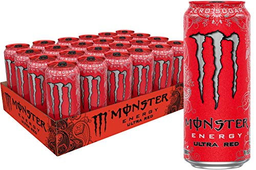 Monster Energy Ultra Red Sugar Free Energy Drink 16 Ounce Pack of 24