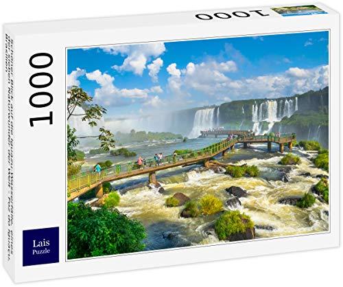 Lais Puzzle Bella Vista delle cascate di Iguazu, Una delle Sette Meraviglie Naturali del Mondo - Foz do Iguaçu, Brasile 1000 Pezzi