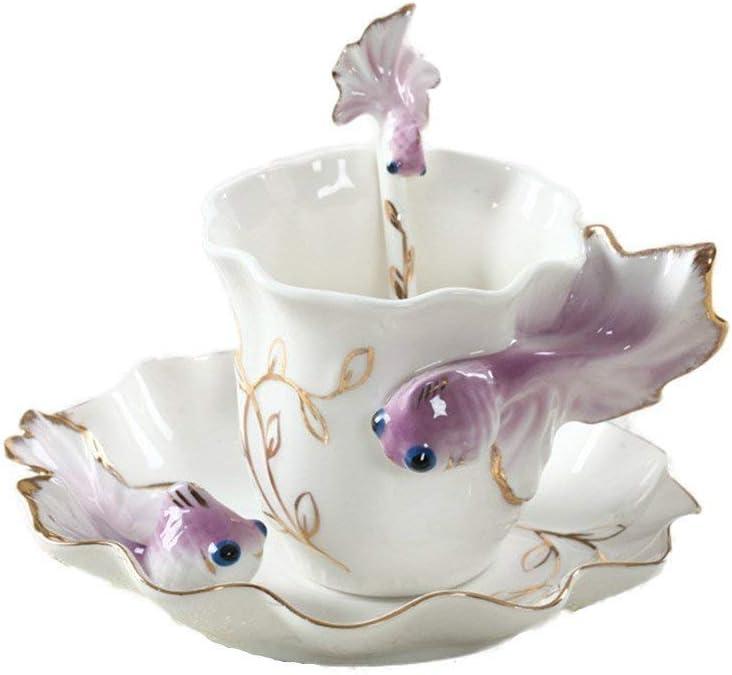 ZZI Very popular New Tech Creative 3D Goldfish China Coffee Bone Super-cheap Mugs Ceramic