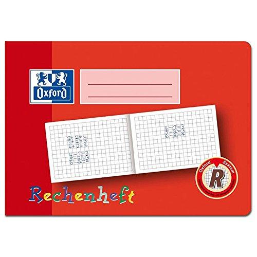 Oxford 100050106 Heft, A5 quer, Rechenheft 10 mm kar, R, 16, robuster, abwischbarer Deckel