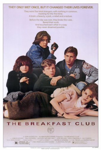 Breakfast Club, The (1985) - 12x18 inch - Style Poster Print Sticker Retro Unframed Wall Art Gifts