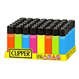 48 mecheros Clipper Solid Fluo. nuevos.