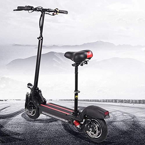 DJPP Scooters Scooter Eléctrico con Asientos Y Manillares Plegables, Bicicleta de Bolsillo con Gran Capacidad de Carga, Batería de Litio de 48 V, Motor de Doble Rueda de 2400 W