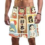 LORVIES - Bañador para hombre, estilo japonés, con símbolo de la cultura japonesa, talla L, de secado rápido multicolor M