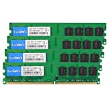 TECMIYO 8GB Kit (4X2GB) 2RX8 PC2-6400U DDR2 800MHZ DIMM PC2-6300 DDR2-800 UDIMM 1.8V CL6 240Pin Dual Rank Non-ECC Unbuffered RAM Desktop per Intel AMD System