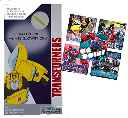 Kid's Valentines Day Cards and included Awesome Gifts Bundles in all of their Favorite Disney, Marvel, Hasbro, and DC Characters! (16pc, Transformers)