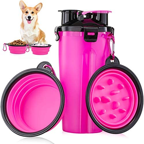 Dog Water Bottle for Walking Portable Water Bottle for Dogs with Collapsible Dog Water Bowl product image