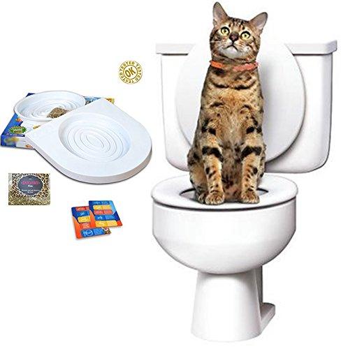 Ducomi Bobo - Training Kit Addestramento Gatti - Addestra Il Gatto ad Usare la Toilette - Alternativa alla Lettiera Gatti - WC Gatto - Sistema di addestramento Uso del WC per Gatti (Training Kit)