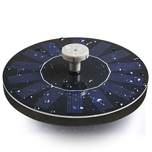 Tranmix Solar Bird Bath Fountain, Solar Powered Fountain 1.4W Free Standing Floating Birdbath Water Pumps for Garden, Patio, Pond and Pool