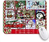 KAPANOUマウスパッド 愛はクリスマスのシベリアンハスキー犬を飼っています ゲーミング オフィス おしゃれ 防水 耐久性が良い 滑り止めゴム底 ゲーミングなど適用 マウス 用ノートブックコンピュータマウスマット