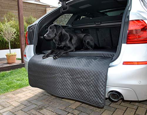Mayaadi Home Hundebett Kofferraum Matte Luca Autoschondecke Kunst Leder Autositz Schutzdecke Schwarz S (100x70x5x60cm)