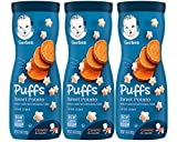 Nourish your little one with whole grain goodness by serving Gerber Puffs Cereal Snack Melt-in-your-mouth texture specially designed to dissolve quickly Star-shaped with ridges, making them easy for little ones to pick up 2g of whole grains per servi...