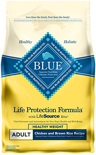 Blue Buffalo Life Protection Formula Natural Adult Healthy Weight Dry Dog Food, Chicken and Brown Rice 6-lb