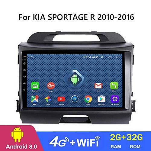 QWEAS Sistema de navegación GPS para KIA Sportage R 2010-2016, de 9 Pulgadas Android 8.1 Auto Todo Netcom Vehiclltimedia