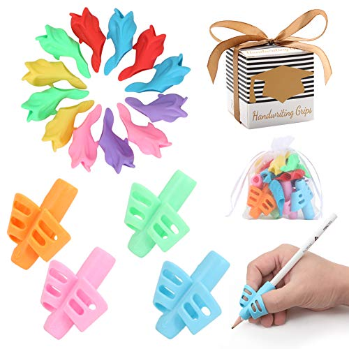 Premium Training Pencil Grips for Kids Handwriting for Preschool, Ritchoi Upgrade Right or Left Hand Ergonomic Pencil Grip for Kids and Training Pencil Grip for Adults (16 Pcs)