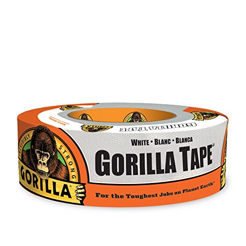 Gorilla Tape, White Duct Tape, 1.88' x 30 yd, White, (Pack of 1)