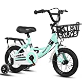 Bicicleta para niños Bicicleta Infantil Unisex bicicletas niños bicicleta de los niños con las bicis de la muchacha frenadas Marco de Formación de Flash Ruedas de acero de niño for el niño Edad 2-13 a