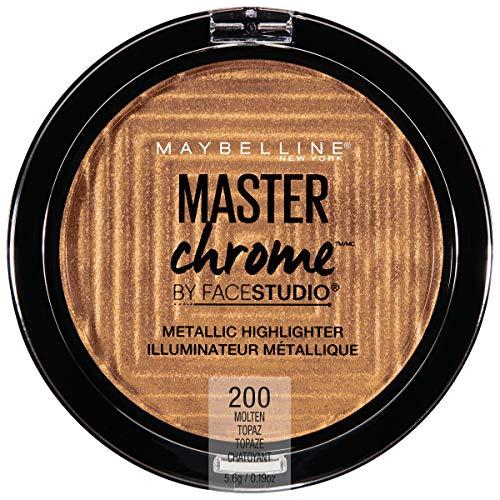 Maybelline New York Facestudio Master Chrome Metallic Highlighter Makeup, Molten Topaz, 0.19 Ounce