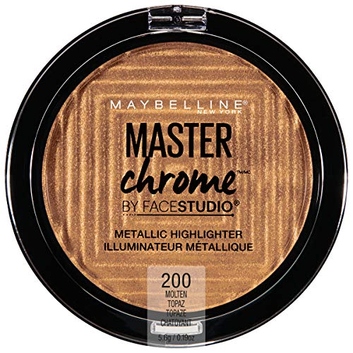 Maybelline New York Facestudio Master Chrome Metallic Highlighter Makeup, Molten Topaz, 0.19 Ounce