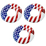 Swimline 36' Inflatable Patriotic American Flag Swimming Pool Float (3 Pack)