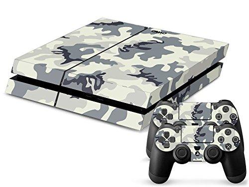 Sony PS4 Playstation 4 Skin Design Foils Aufkleber Schutzfolie Set - Camouflage 2 Motiv