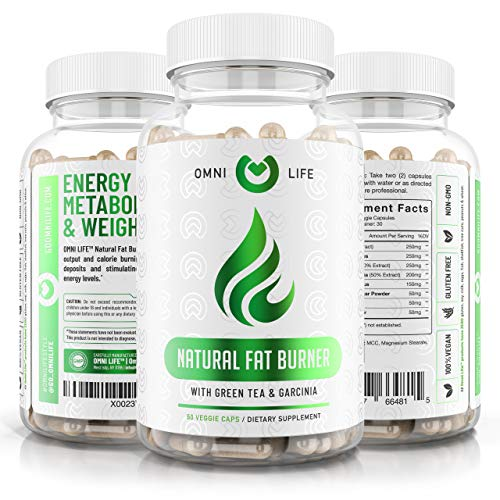 Fat Burner - Premium Natural Weight Loss & Energy Booster Supplement with Raspberry Ketones, Caffeine, Garcinia Cambogia - Advanced Thermogenic Fat Burner Pills for Ketosis - 60 Capsules