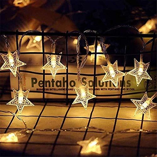 Guirnalda de luces de 10 m con 100 ledes, diseño de estrella